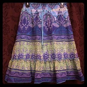 A colorful patterned skirt